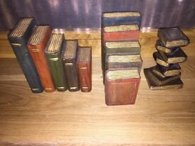 Wooden painted bookends