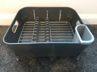 Dish Rack, Dish Drainer, compact, grey, cutlery drainer
