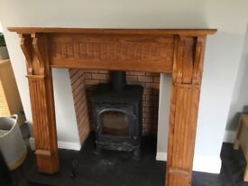 Nice solid wood fire surround