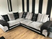Black/Grey corner sofa, only 1 year old, collect only