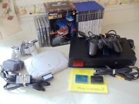 Mega Bundle of Sony PS1 and PS2 with controllers and games+