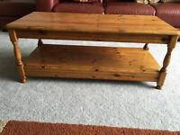 WAXED PINE COFFEE TABLE. VERY GOOD CONDITION