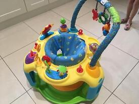 Bright starts baby bouncer and play station