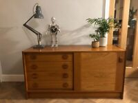 Domino Mobler Danish mid century small teak sideboard cabinet with drawers
