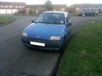 Renault Clio, 1100, petrol, manual, blue, genuine 52k since new, 5 door