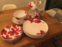 M&S china primrose dinner set