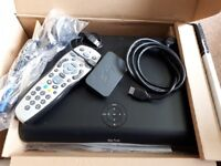 Sky HD box, remote, wireless connnector, router, cables and plugs