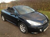 Low miles,new clutch56 plate,mot,convertable,Peugeot 307cc s.not Bmw,Audi,Honda,ford,Vauxall,renault