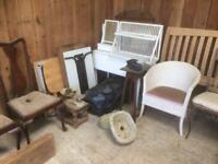 Various furniture and household items