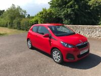 Peugeot 108 Active 1.0 2015, FREE Road Tax, Only 14'000 Miles