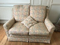 Wesley Barrell two-seater settee. Hardly used but with some cover damage in inconspicuous place.