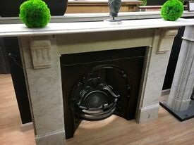 Antique Marble Fireplace Mantel.