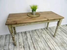 Rustic Pine Farmhouse Table