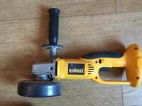 DeWalt battery angle grinder