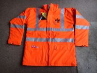 Quality Hi visibility warm winter work jacket new size medium and large £25 each