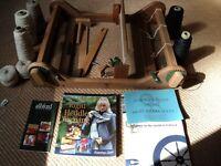 Loom. Ashford Rigid Heddle LOOM and Ashford BOOK of Rigid Heddle Weaving. Assembled. Used.