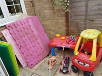 playhouse, little tikes car, sandpit, scooter and trike for sale £25