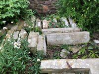 Job lot of large bath stone limestone blocks - 2 tonnes **Grab a bargain now!**