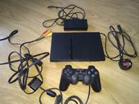 Slim line ps2 with controller and wires hardly used good condition