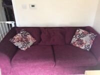 3 seater purple sofa - reduced