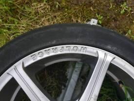 wolface 205 45zr17 alloy wheels