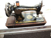singer sewing machine hand operation 100 years old working order serviced 18 months ago