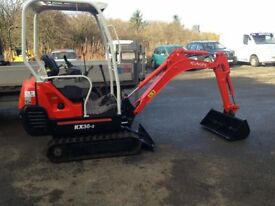 Digger mini excavator Kubota KX36-3 not job or Takeuchi