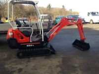 Digger mini excavator Kubota KX36-3 not job or Takeuchi