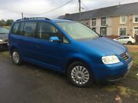 2005 55 plate valkswagon touran 7 seater spares or repairs