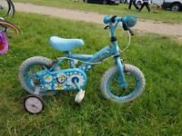Blue child bicicle