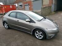 2007 HONDA CIVIC 2.2 EX- CTDI 5 DOOR HATCHBACK GREY 12 MONTHS M.O.T