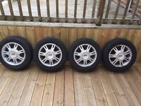 """Ford Fiesta 14"""" alloys with tyres"""