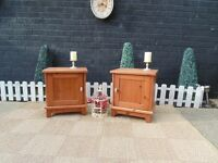 PAIR OF BEDSIDE CABINETS VERY SOLID UNITS AND BOTH IN EXCELLENT CONDITION 45/37/50 cm £40