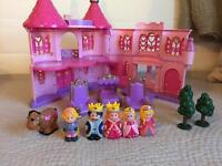 ELC - Happyland - Pink Palace - Horse, figures, trees, furniture - Bundle - VGC