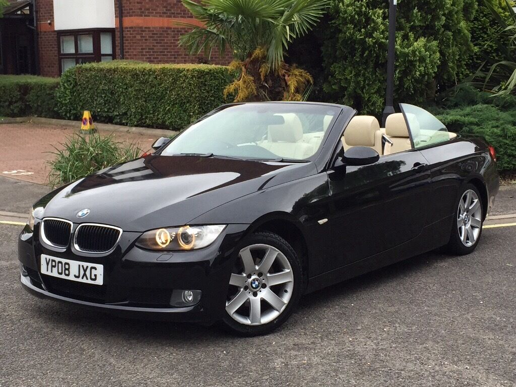 2008 Bmw 320i Se Convertible Sport Cream Leather In