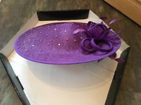 Wedding hat - purple