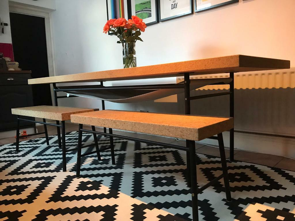 Ikea Sinnerlig Cork Dining Table Amp Benches In Redcar