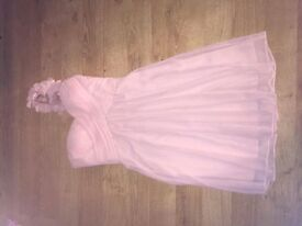 Pink bridesmaid/ prom dress size 6