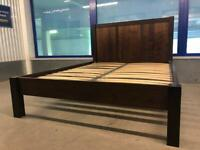 Dark king size low foot bed frame