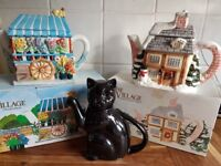 Ornamental and Decorative Collectable Teapots including cat teapot