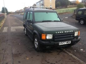 landrover discovery td5, X reg, half leather, mot march, 110k miles £1095 kilmarnock