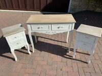 Bedroom set white distressed