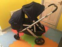 UPPAbaby Vista 2015 double buggy with single footprint