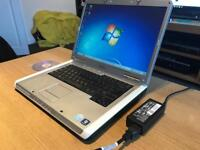 """FAST DELL WINDOWS 7 LAPTOP 15.6"""" INTEL DUAL CORE 250GB HDD 2GB RAM AND OFFICE 2016 PRO HP CHARGER"""