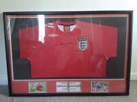 Signed (Authentic COA) Wayne Rooney England Shirt