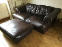 REDUCED TO £45 Italian seater 4 seater sofa plus large footrest