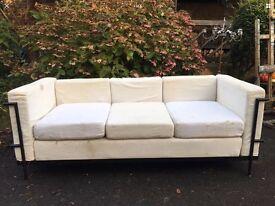 Corbusier style 3 seater sofa