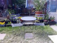 Ikea bistro table and 2 chairs
