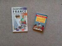 French and Spanish language phrase books. £2 both