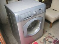 SILVER 'HOTPOINT WMF 760' WASHING MACHINE . 1600 SPIN 7KG. GOOD WORKING ORDER. VIEW/DELIVERY